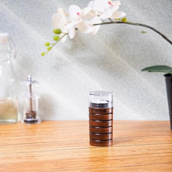 Royalford Cherry Wood Acrylic Salt Bottle 70ml