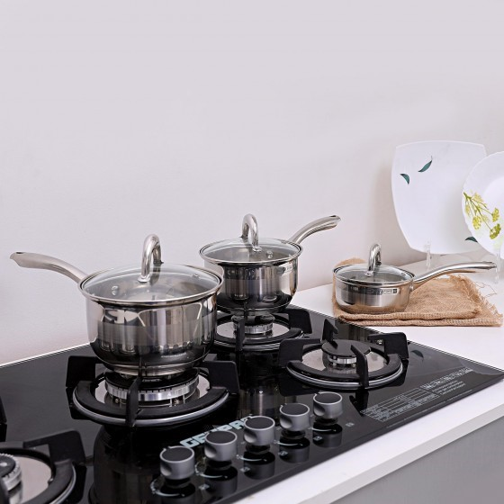 Royalford 6 PCS Stainless Steel Saucepan Set