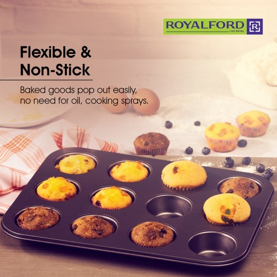 Royalford 12 Cup Muffin Pan